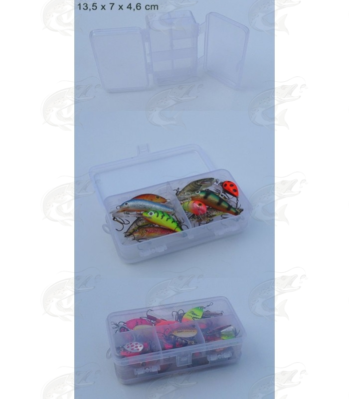 Double-Sided Clear Utility Box 13,5 x 7 x 4,6 cm