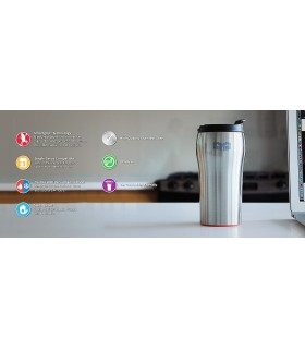 Mighty Mug Solo SS: Stainless Steel Silver