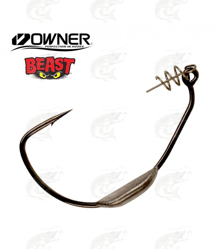 Weedless Hooks Owner Weighted Beast with Twistlock