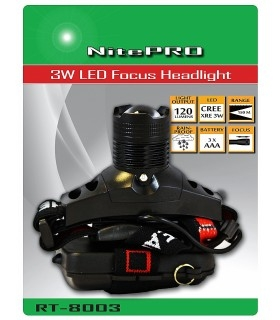 120 Lumens NitePRO RT-8003 headlamp