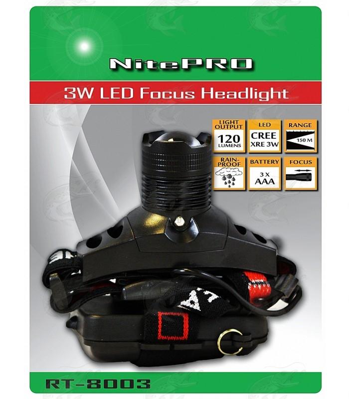 120 Lumens NitePRO RT-8003 headlamp