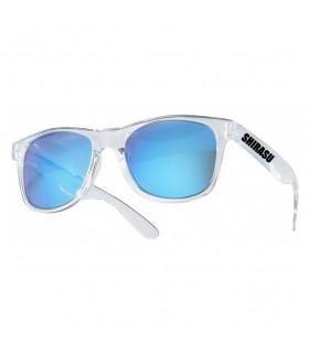 Balzer Polarized Sunglasses | Transparent Frame - Blue Mirror Lenses
