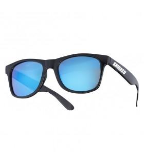 Balzer Polarized Sunglasses | Black Frame - Blue Mirror Lenses