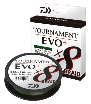 Daiwa Tournament X8 Braid Evo+ Braided Line