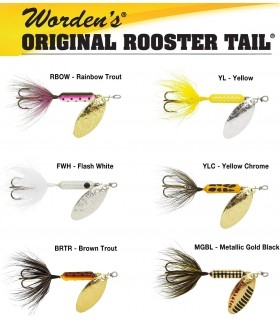 Rooster Tail spinners
