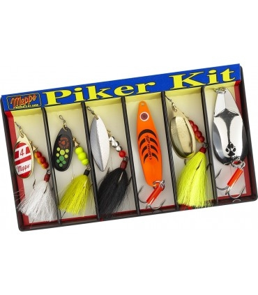 Mepps Piker Kit - Plain and Dressed Lure Assortment