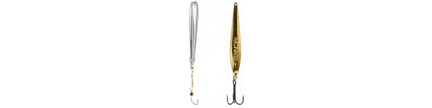 Spoons and Vertical jigging lures for ice fishing