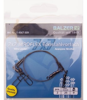 Leader Balzer 7x7 Niroflex with a triple swivel