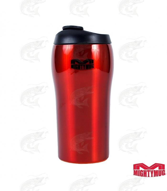 Mighty Mug Solo SS: Stainless Steel Red